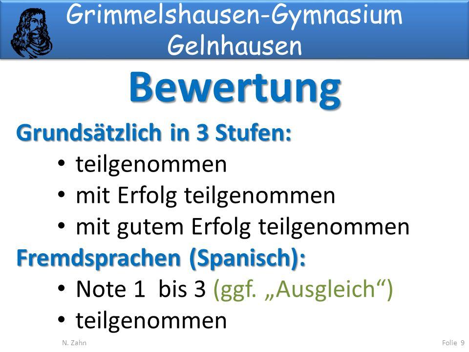 Grimmelshausen-Gymnasium Gelnhausen Bewertung Folie 9N.