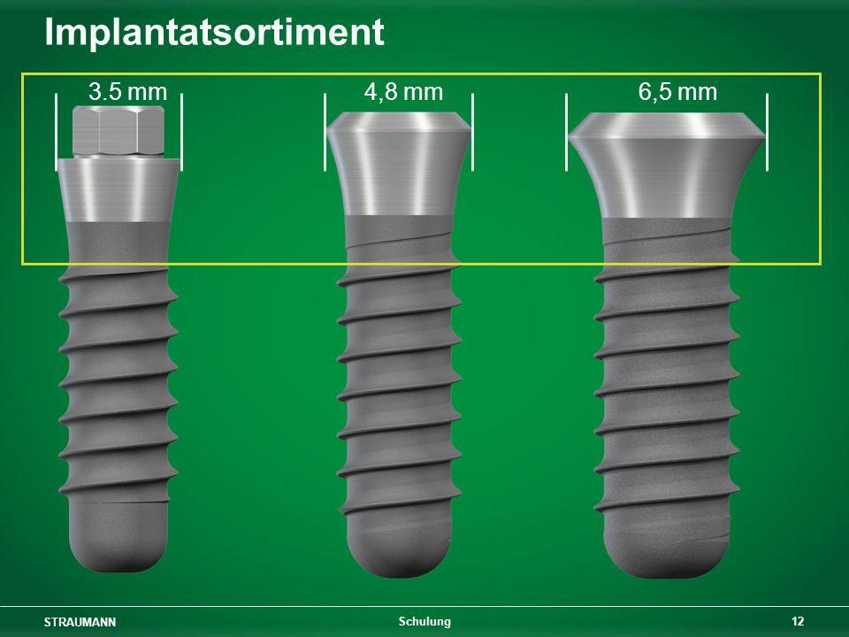 STRAUMANN 12 Schulung Implantatsortiment 3.5 mm 4,8 mm6,5 mm