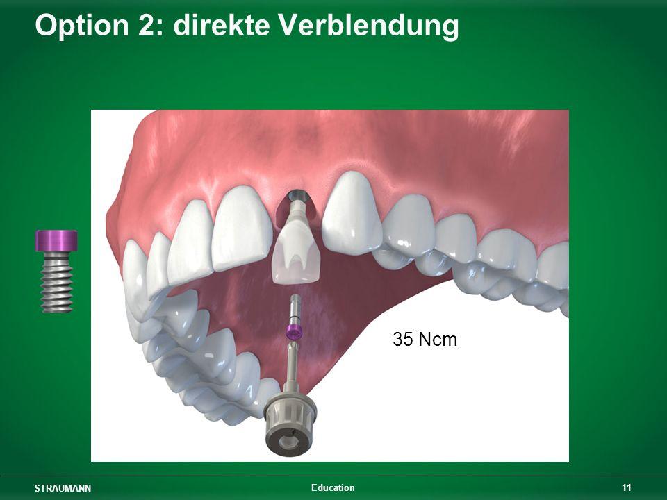 STRAUMANN 11 Education Option 2: direkte Verblendung 35 Ncm