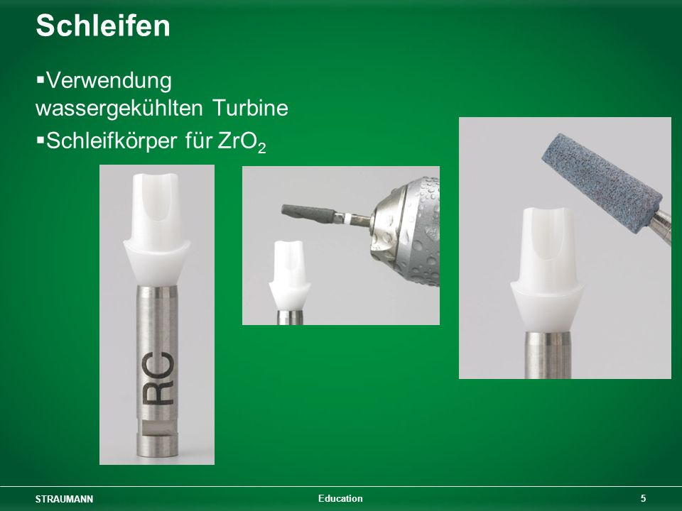 STRAUMANN 5 Education Schleifen Verwendung wassergekühlten Turbine Schleifkörper für ZrO 2