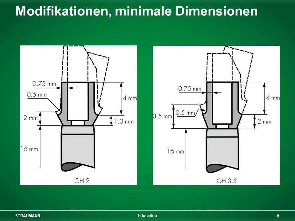 STRAUMANN 6 Education Modifikationen, minimale Dimensionen