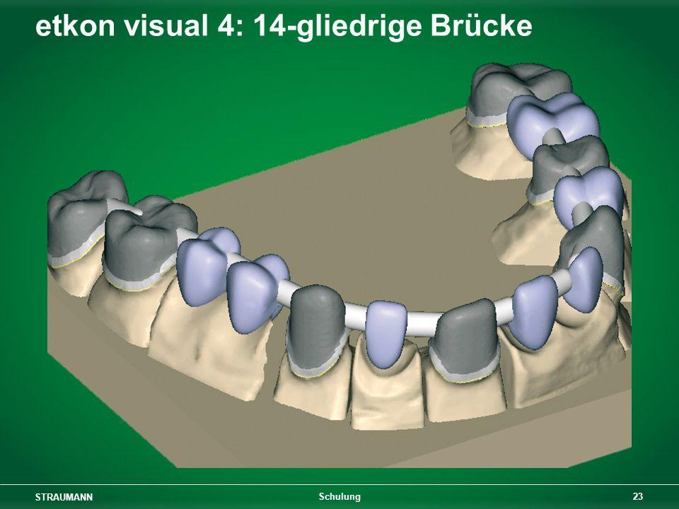 STRAUMANN 23 Schulung etkon visual 4: 14-gliedrige Brücke
