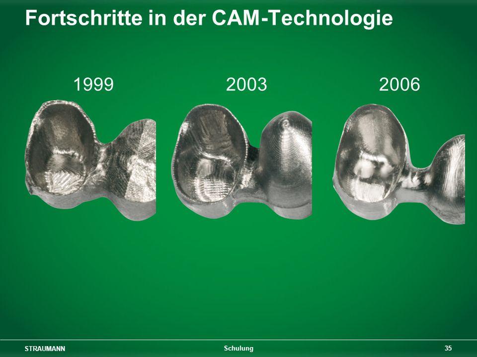 STRAUMANN 35 Schulung Fortschritte in der CAM-Technologie 1999 2003 2006