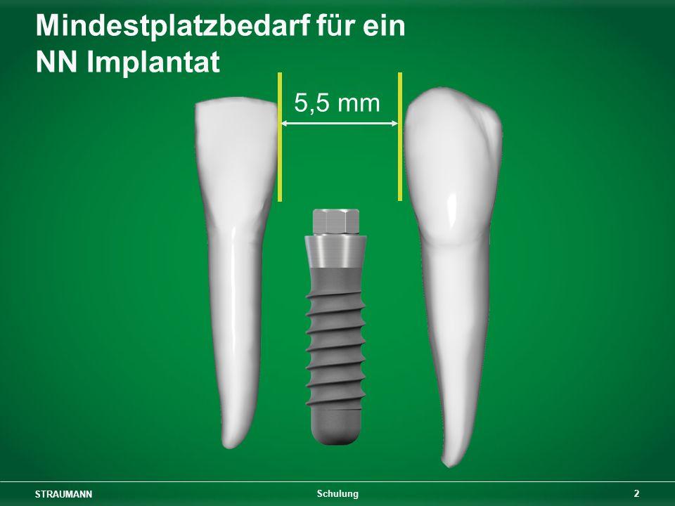 STRAUMANN 3 Schulung 6,8 mm Mindestplatzbedarf für ein RN Implantat