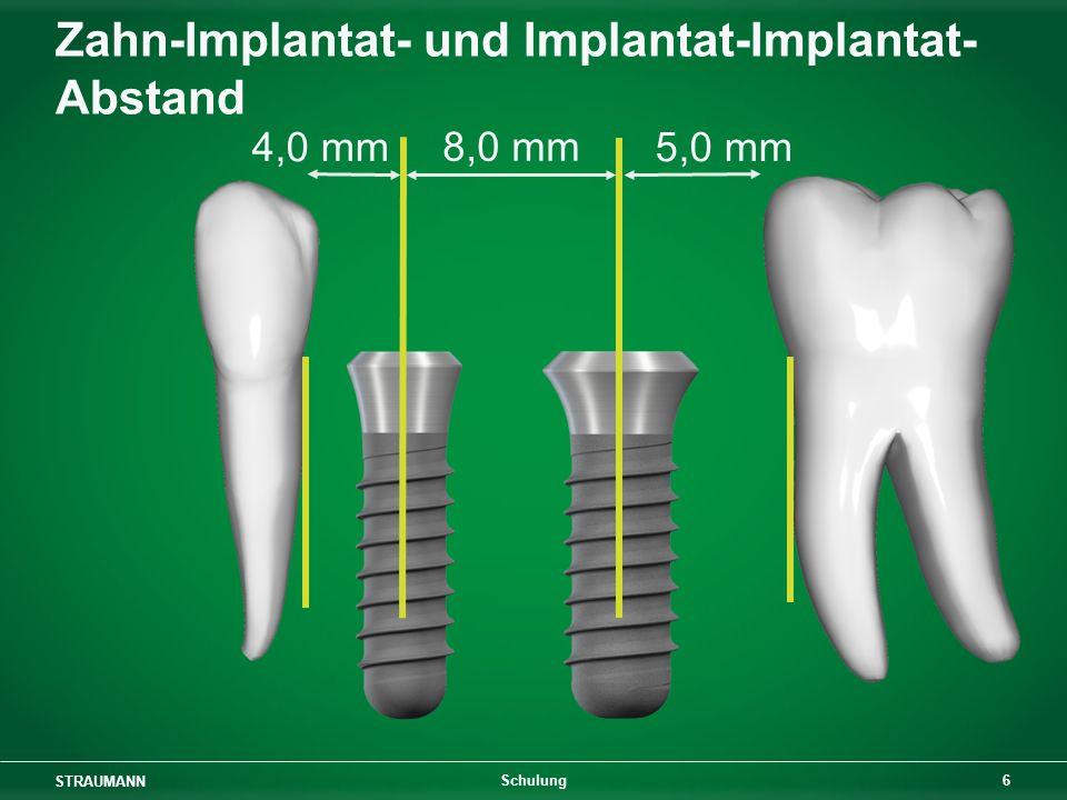 STRAUMANN 7 Schulung 4,0 mm 7,0 mm Zahn-Implantat- und Implantat-Implantat- Abstand
