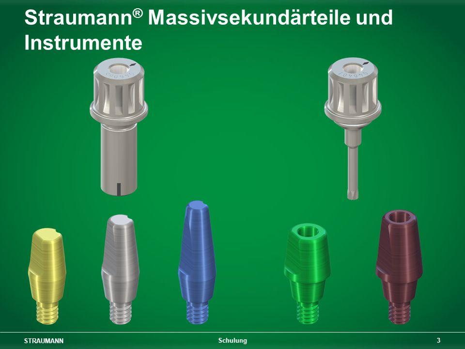 STRAUMANN 3 Schulung Straumann ® Massivsekundärteile und Instrumente