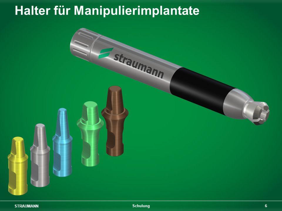 STRAUMANN 27 Schulung Eigenschaften von Kunststoffkappen Wachsschicht mind. 0,3 mm!