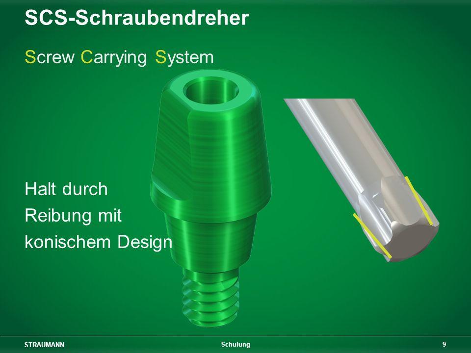 STRAUMANN 9 Schulung SCS-Schraubendreher Screw Carrying System Halt durch Reibung mit konischem Design