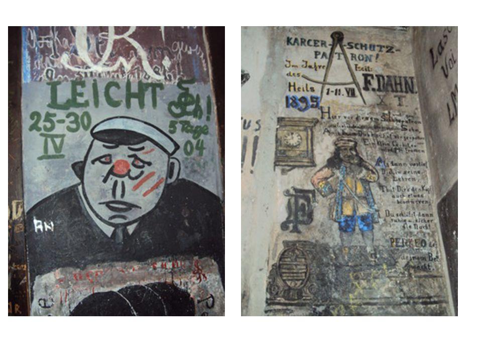 viele Graffitis