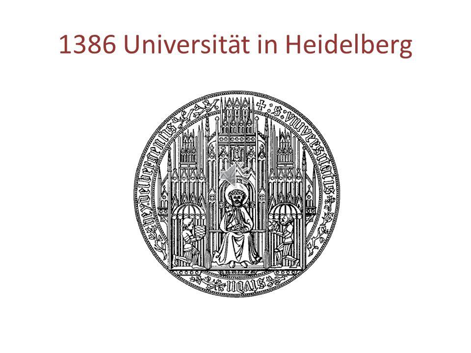 1386 Universität in Heidelberg