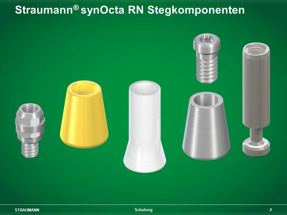 STRAUMANN 33 Schulung Unterfütterung einer implantatgetragenen Stegprothese