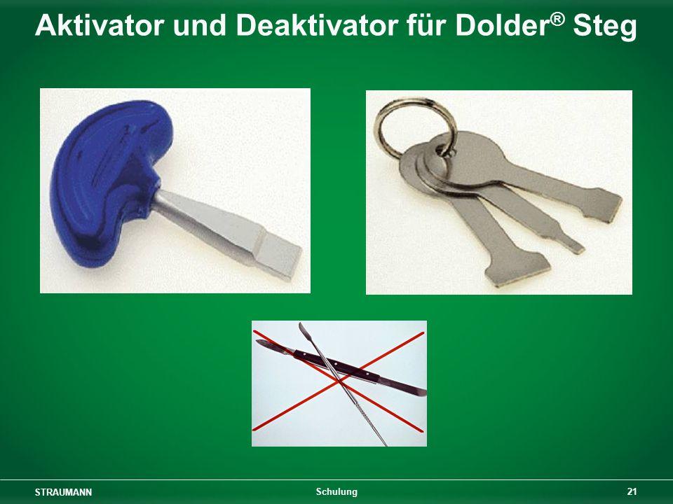 STRAUMANN 21 Schulung Aktivator und Deaktivator für Dolder ® Steg