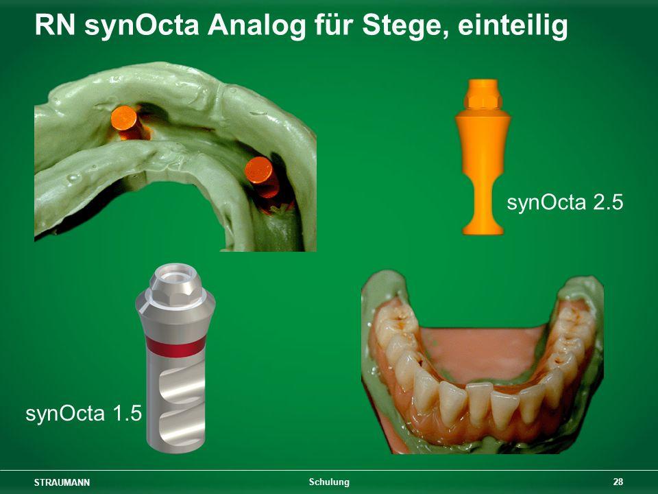 STRAUMANN 28 Schulung synOcta 1.5 synOcta 2.5 RN synOcta Analog für Stege, einteilig