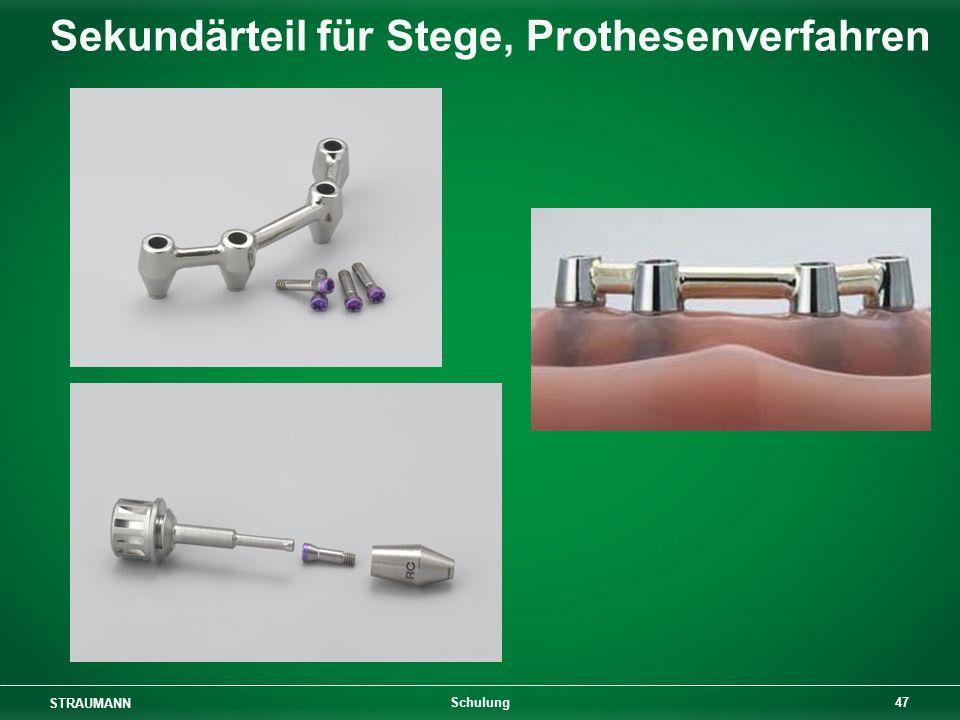 STRAUMANN 47 Schulung Sekundärteil für Stege, Prothesenverfahren