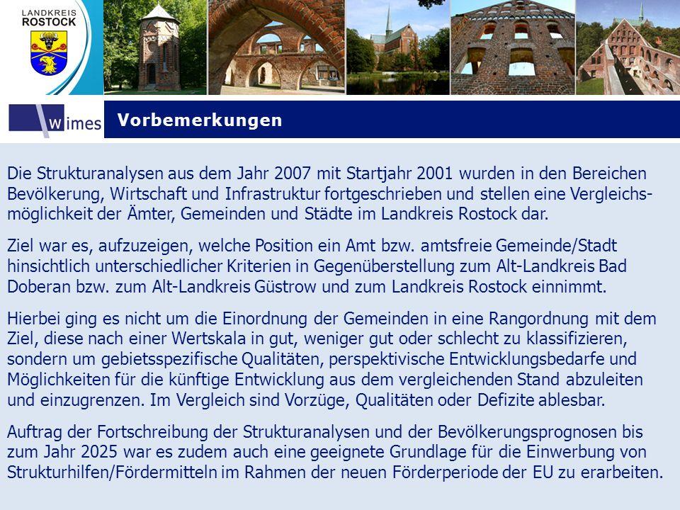 Quellenverzeichnis Quellenverzeichnis Die kleinräumigen Einwohnerdaten für die Gemeinden wurden wiederum von den Einwohner- meldestellen der Ämter und der amtsfreien Städte im Landkreis Rostock geliefert.