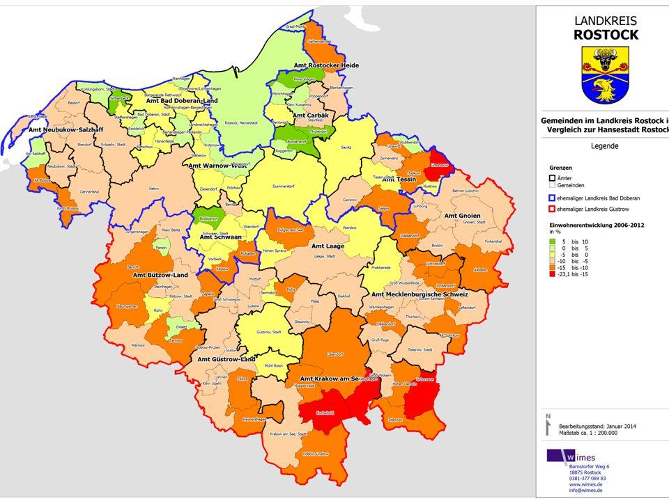 Ergebnisse der Strukturanalysen - EinwohnerentwicklungErgebnisse der Strukturanalysen - Einwohnerentwicklung