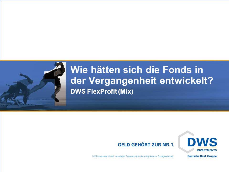 *DWS Investments ist nach verwaltetem Fondsvermögen die größte deutsche Fondsgesellschaft. Wie hätten sich die Fonds in der Vergangenheit entwickelt?