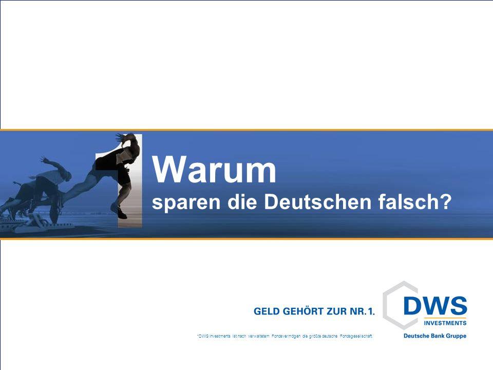 *DWS Investments ist nach verwaltetem Fondsvermögen die größte deutsche Fondsgesellschaft. Warum sparen die Deutschen falsch?