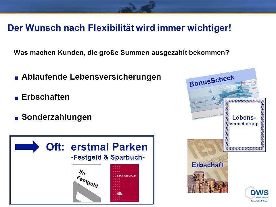 DWS ZukunftsPlan/System: …eine echte Win-Win-Situation… Erfolg wird belohnt !