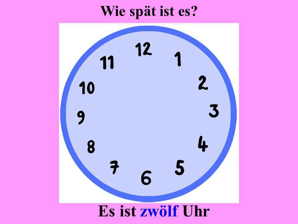 Es ist drei Uhr Wie spät ist es?