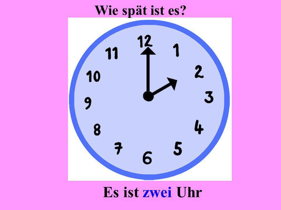Es ist ein Uhr Wie spät ist es?