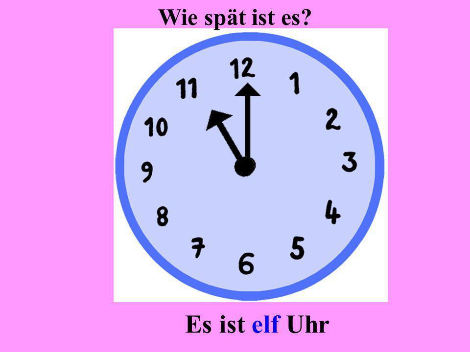 Es ist zwei Uhr Wie spät ist es?