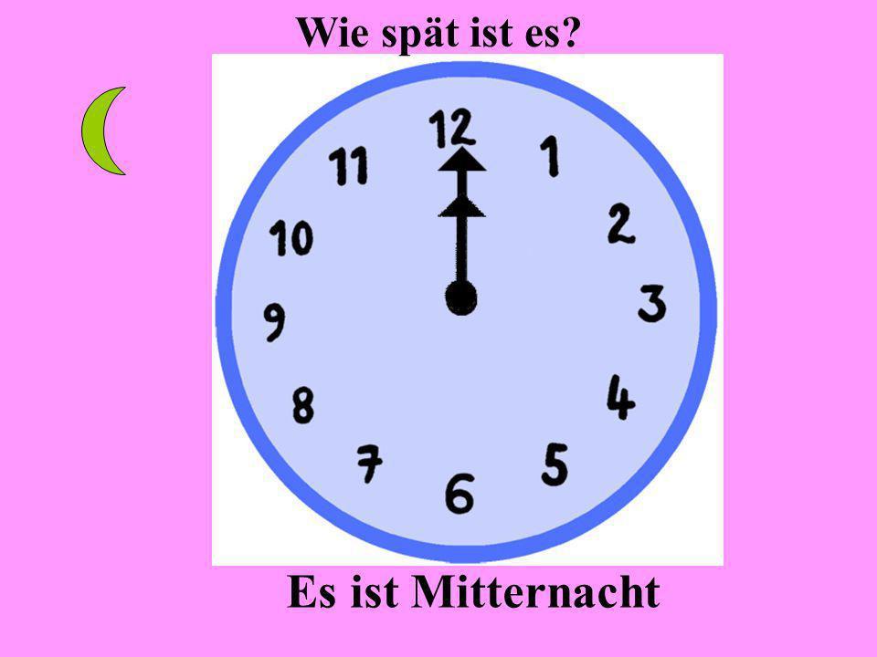 Es ist elf Uhr Wie spät ist es?