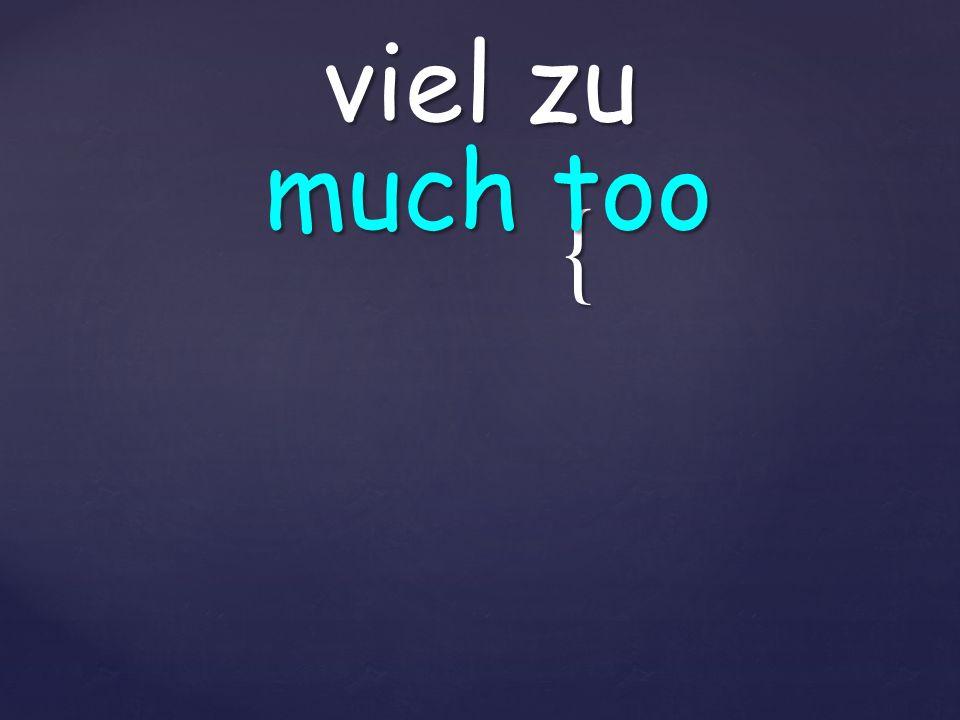 { viel zu much too
