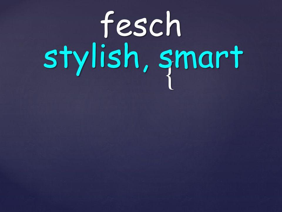 { fesch stylish, smart