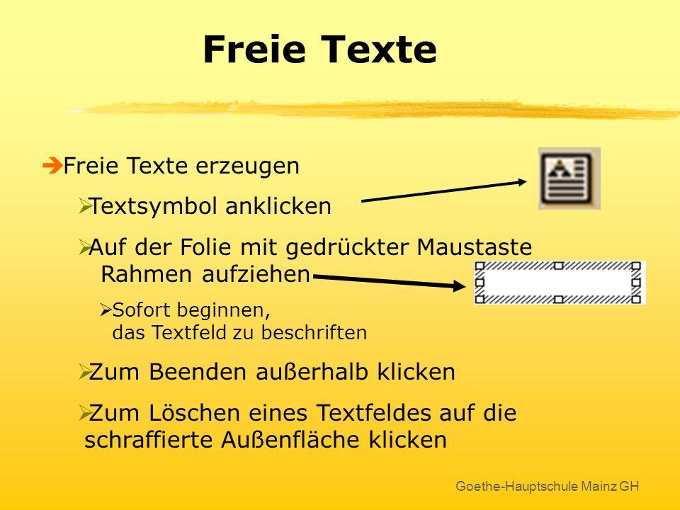 Goethe-Hauptschule Mainz GH Hintergrundfarbe Hier findet jeder etwas, das ihm gefällt !