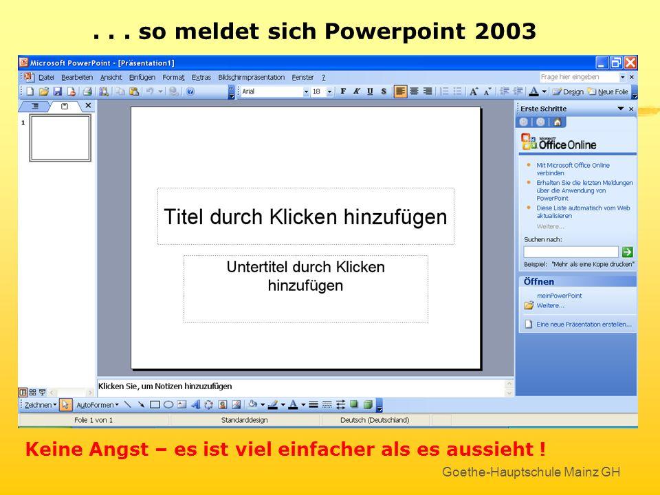 Neue Präsentation erstellen Das Programm PowerPoint öffnen :