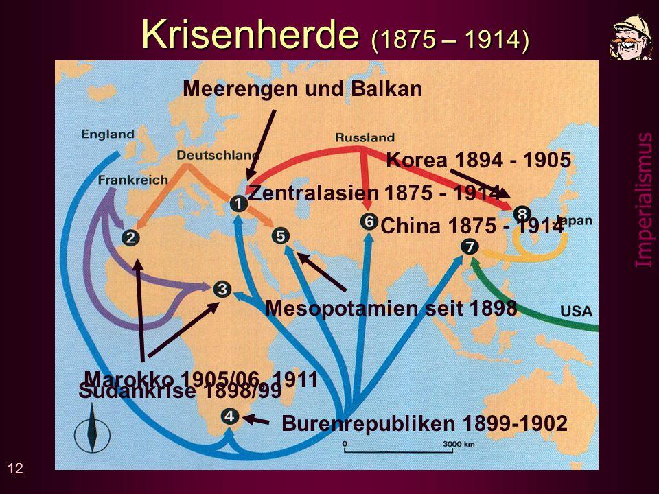 11 Imperialismus Neue Nachbarschaften Die europäischen Grossmächte werden auf andern Kontinenten plötzlich zu Nachbarn, die oft verschiedene Interessen haben und sich nicht immer vertragen.