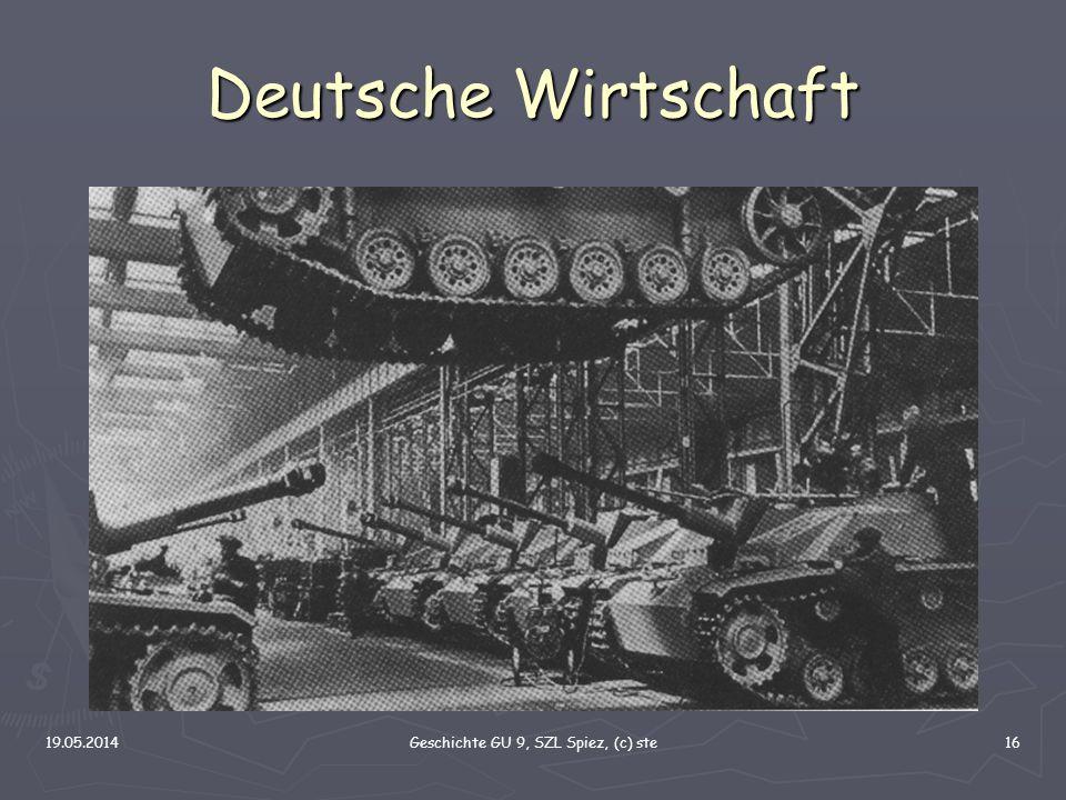 19.05.2014Geschichte GU 9, SZL Spiez, (c) ste16 Deutsche Wirtschaft