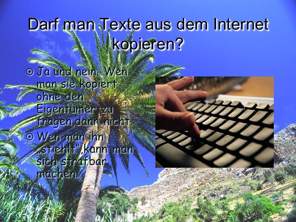 Urheberrecht TEXTE KOPIEREN VERBOTEN!!!