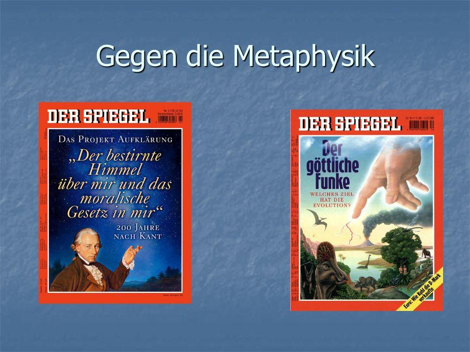 Gegen die Metaphysik