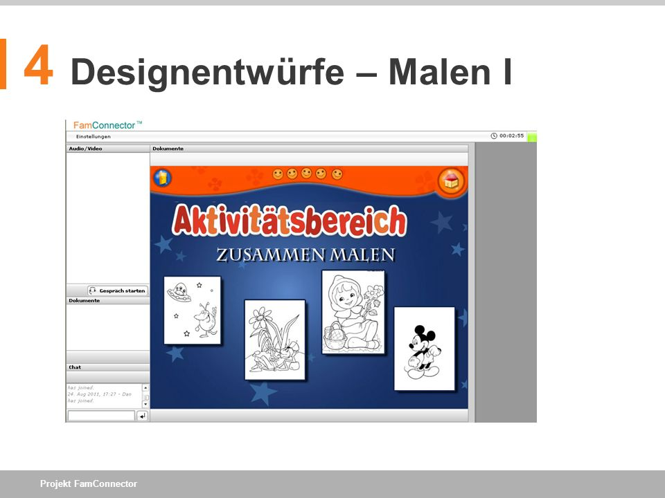 Projekt FamConnector 4 Designentwürfe – Malen I