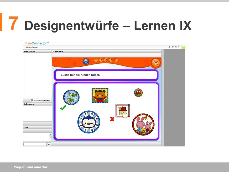 Projekt FamConnector 7 Designentwürfe – Lernen IX