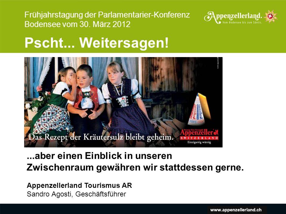 www.appenzellerland.ch Frühjahrstagung der Parlamentarier-Konferenz Bodensee vom 30.