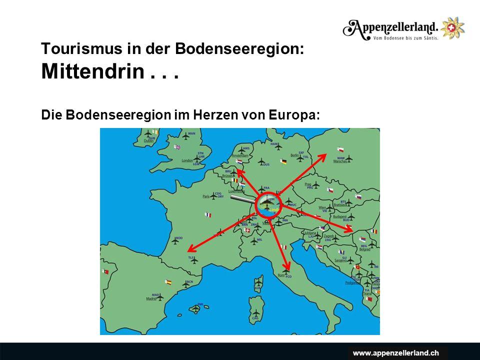 www.appenzellerland.ch Klare Fokussierung: Die geografischen Märkte.
