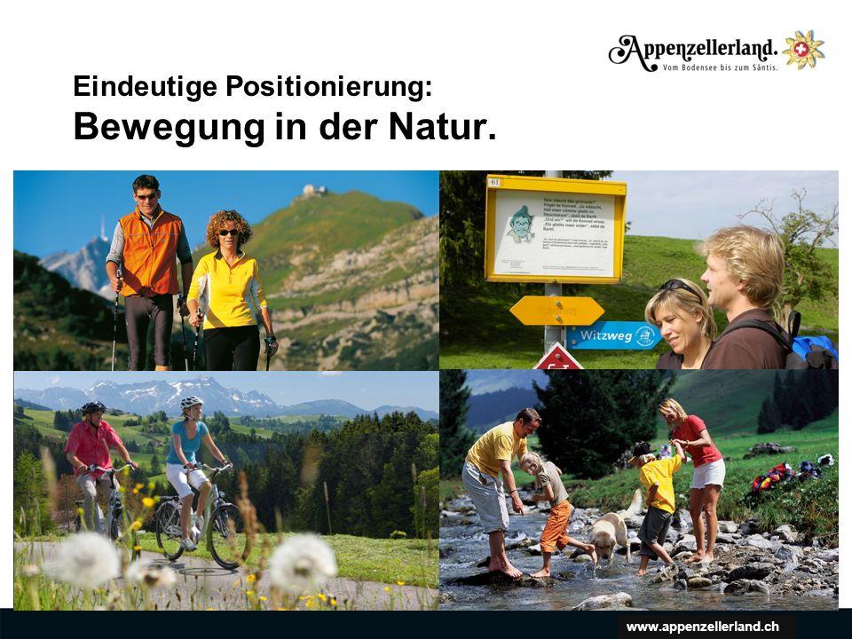 www.appenzellerland.ch Eindeutige Positionierung: Bewegung in der Natur.