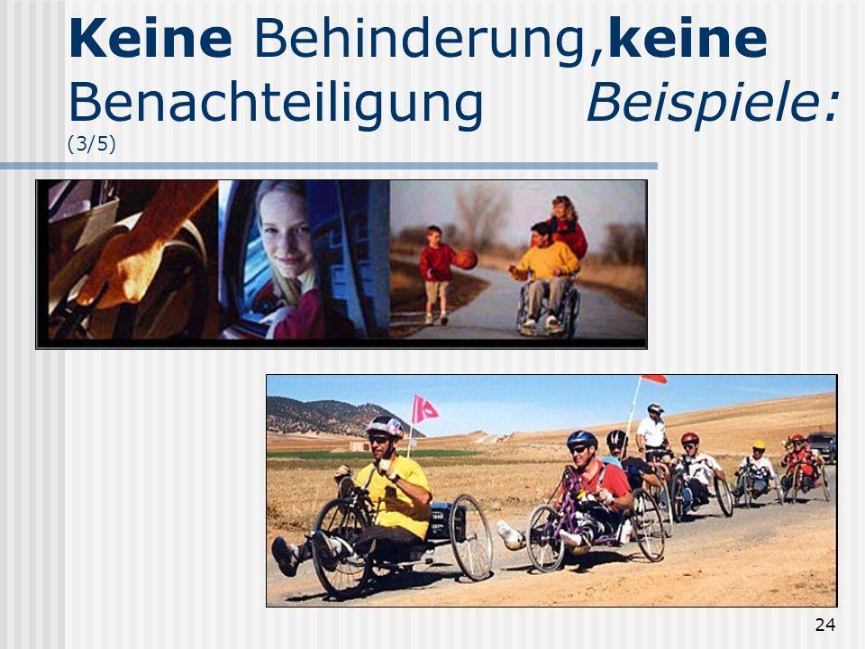 24 Keine Behinderung,keine BenachteiligungBeispiele: (3/5)