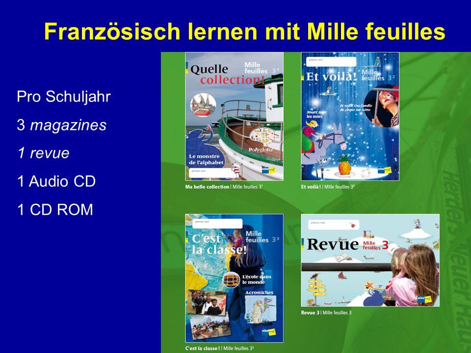 Französisch lernen mit Mille feuilles Pro Schuljahr 3 magazines 1 revue 1 Audio CD 1 CD ROM