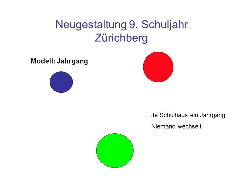 Neugestaltung 9. Schuljahr Zürichberg Alles bleibt Modell: Intern