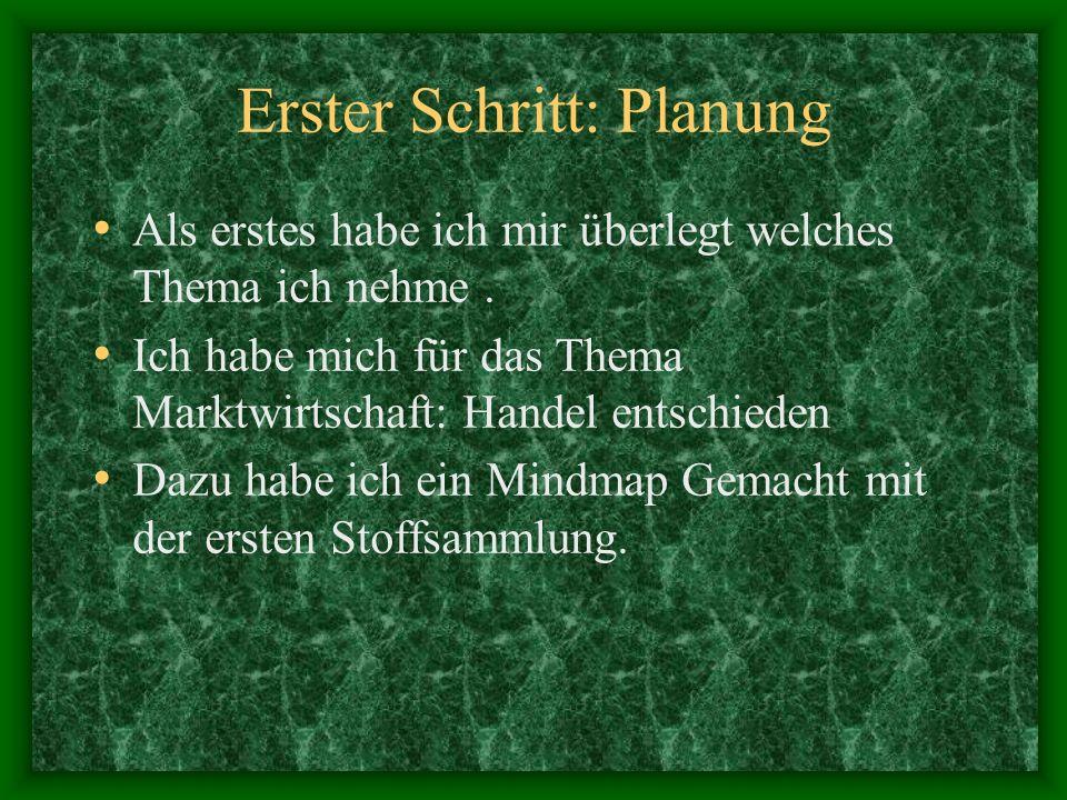 Halbjahresarbeit Matthias Werner Klasse: 10b