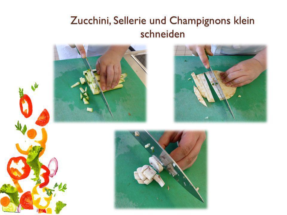 Wurst + Käse würfelig schneiden