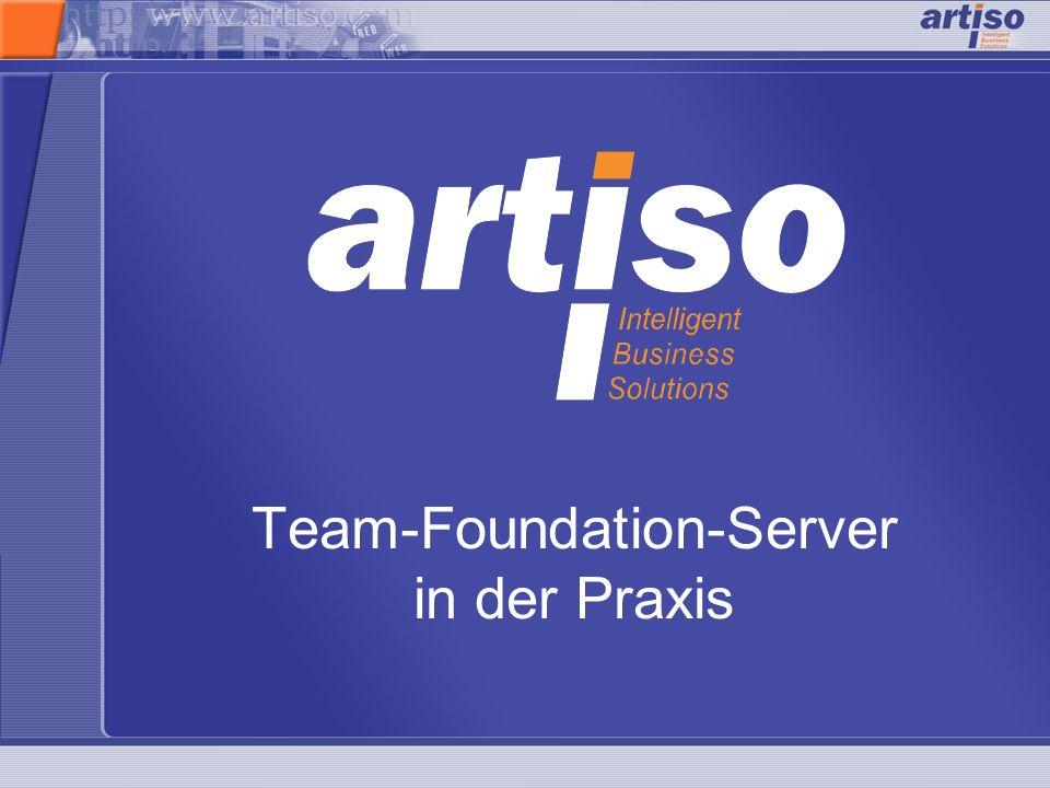 Team-Foundation-Server in der PraxisFolie 12 von 12 Weitere Quellen Informationen zu VSTS http://www.microsoft.com/germany/msdn/vstudio/teamsy stem/expand/default.mspx http://www.microsoft.com/germany/msdn/vstudio/teamsy stem/expand/default.mspx Team Foundation Server Powert Tools http://www.microsoft.com/downloads/details.aspx?Family ID=7324C3DB-658D-441B-8522- 689C557D0A79&displaylang=en Achtung DSL-Tools müssen vorher installiert sein.