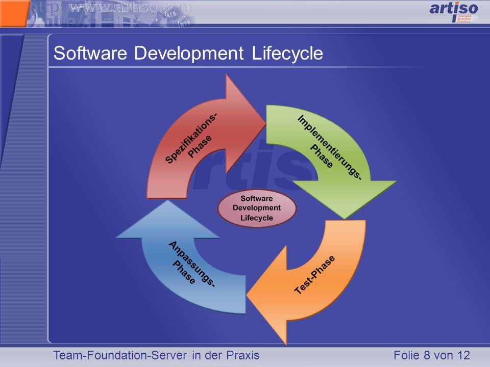 Team-Foundation-Server in der PraxisFolie 8 von 12 Software Development Lifecycle