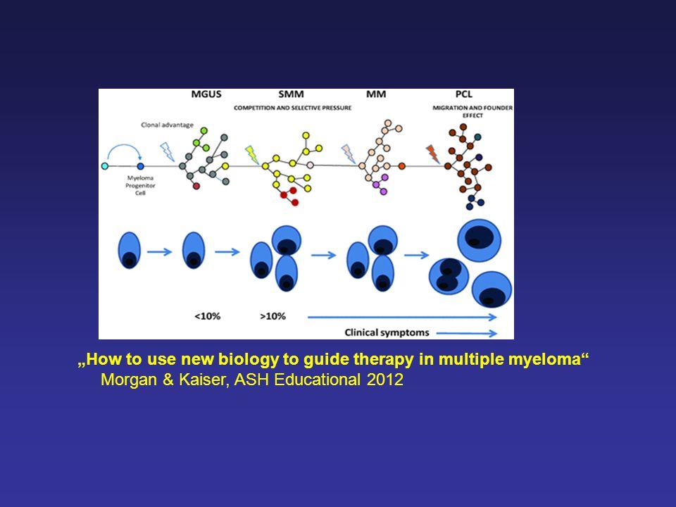 Old agents Melphalan (Alkeran®), Prednisone, Dexamethason, Cyclophosphamid (Endoxan®), Doxorubicin, Cisplatin, Interferon- u.a.