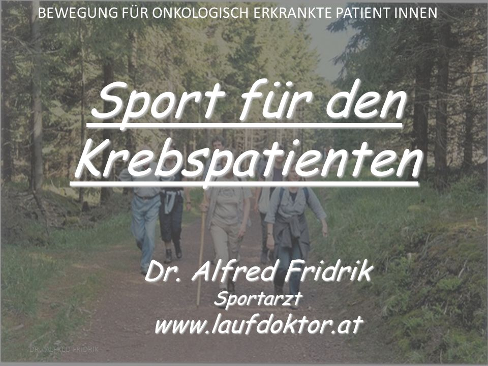 DR. ALFRED FRIDRIK Überkompensation (negativer Trainingseffekt)