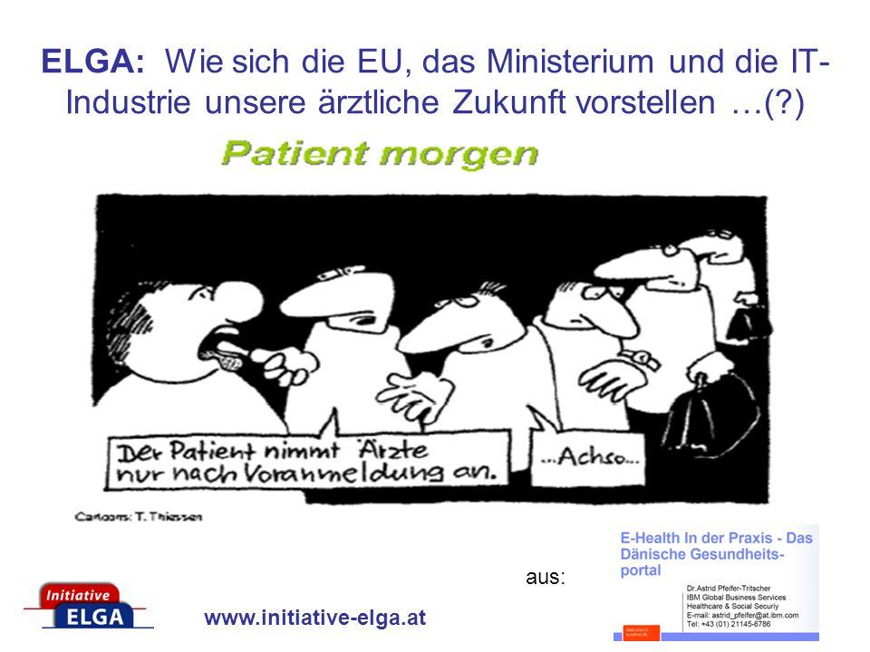 www.initiative-elga.at ELGA: Wie sich die EU, das Ministerium und die IT- Industrie unsere ärztliche Zukunft vorstellen …(?) aus: